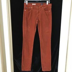 36543f5ed4 AG The Stevie Slim Straight Cords Rust Brown 28